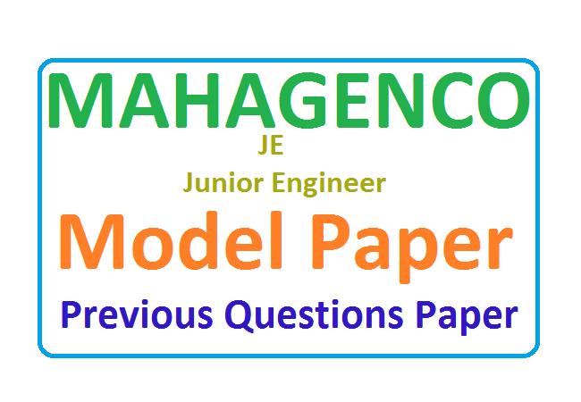 MAHAGENCO Sample Paper