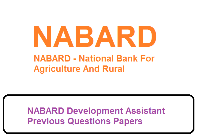 NABARD Development Assistant Previous Questions Papers