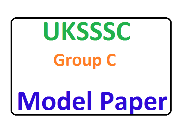 UKSSSC Group C Questions Paper