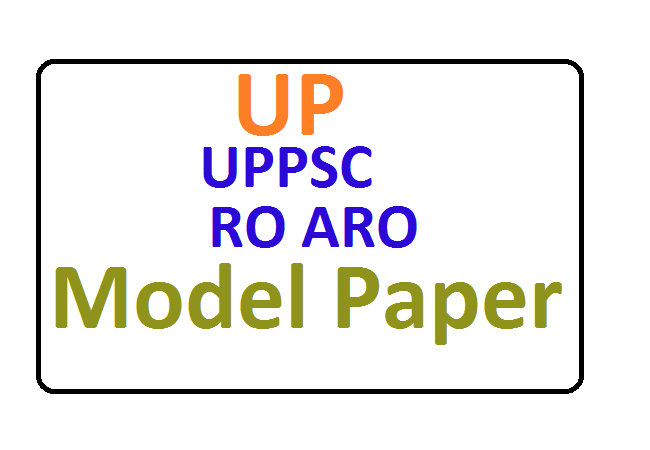UPPSC RO ARO Previous Papers 2020