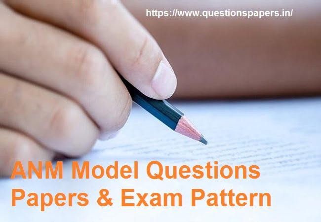 Assam Staff Nurse ANM Model Questions Papers