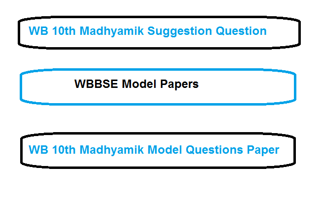 WB 10th Madhyamik Model Questions Paper