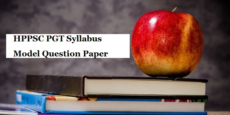 HPPSC PGT Sample Question Paper 2020