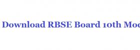 RBSE Board 10th Model Question Paper