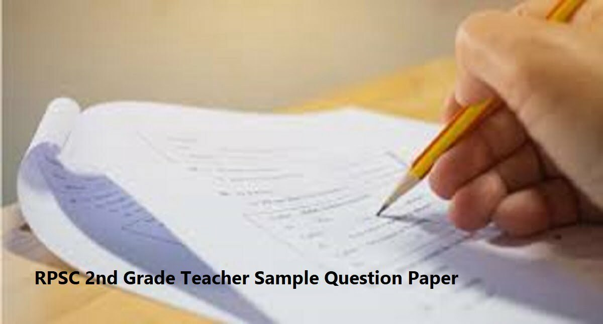 RPSC 2nd Grade Teacher Sample Question Paper 2020